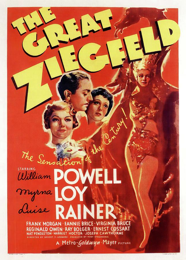 Movie Poster For the Great Ziegfeld, With William Powell And Luise Rainer, 1936 Mixed Media