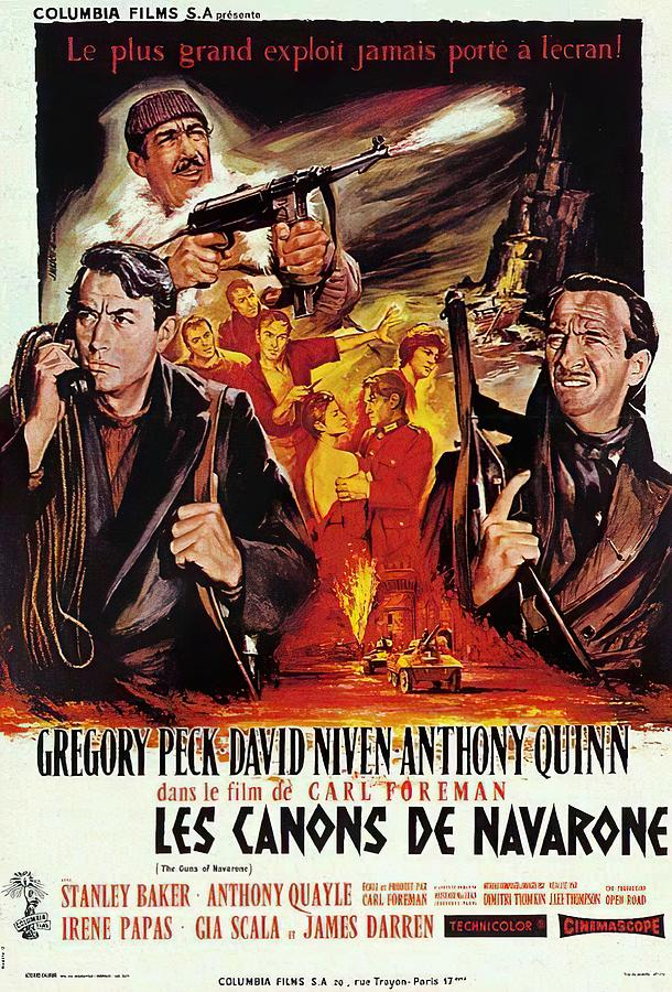 Movie Poster For the Guns Of Navarone 2, With Gregory Peck And Anthony Quinn, 1961 Mixed Media