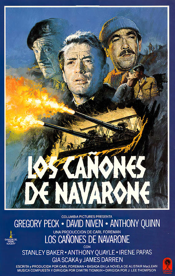 Movie Poster For the Guns Of Navarone, With Gregory Peck, 1961 Mixed Media