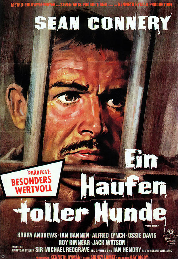 Movie Poster For the Hill, With Sean Connery, 1965 Mixed Media