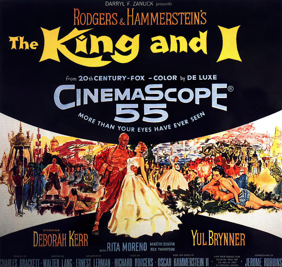 Movie Poster For the King And I, With Deborah Kerr And Yul Brynner, 1956 Mixed Media
