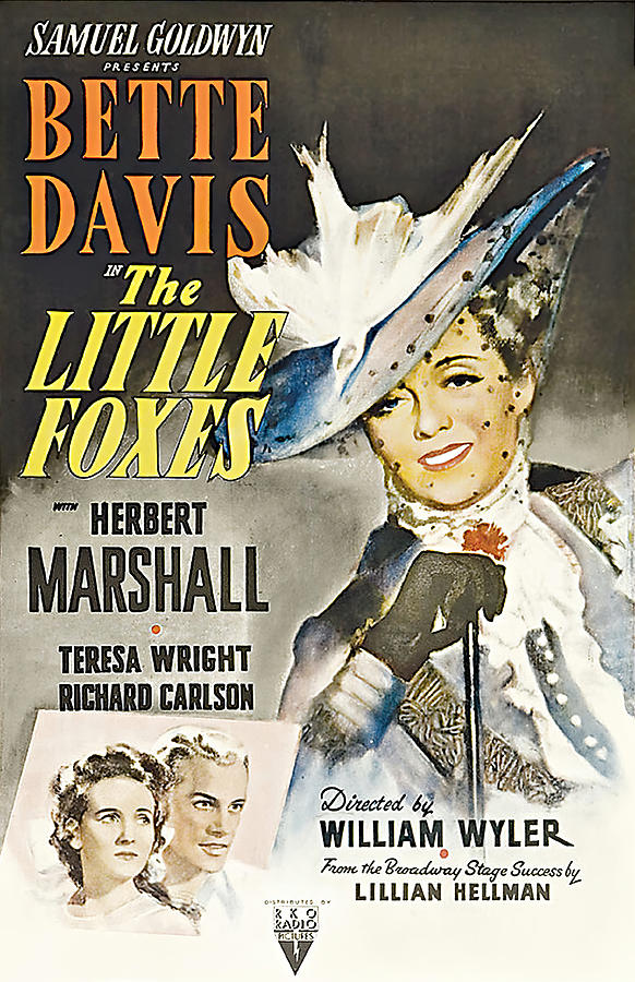 Movie Poster For the Little Foxes, With Bette Davis, 1941 Mixed Media