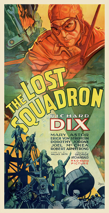 Movie Poster For the Lost Squadron, 1932 Mixed Media