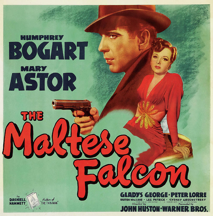 Movie Poster For the Maltese Falcon, 1941 Mixed Media