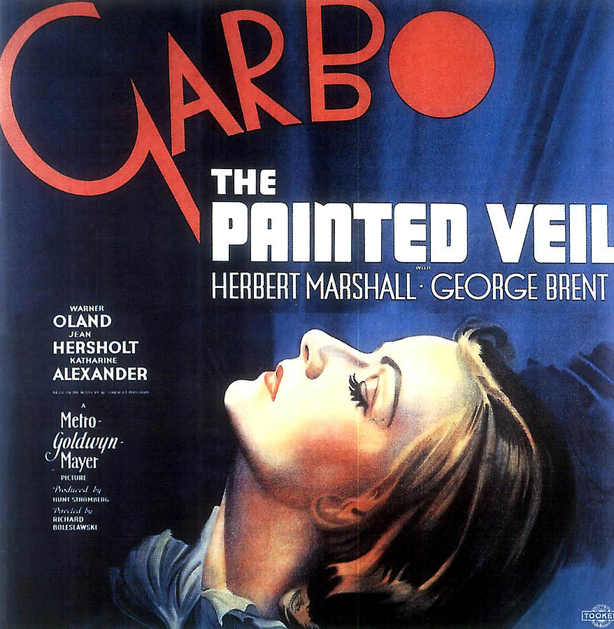Movie Poster For the Painted Veil, With Greta Garbo, 1934 Mixed Media