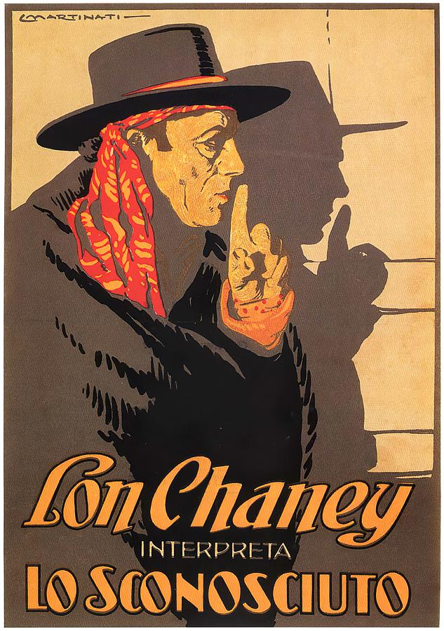 Movie Poster For the Unknown, With Lon Chaney, 1927 Mixed Media