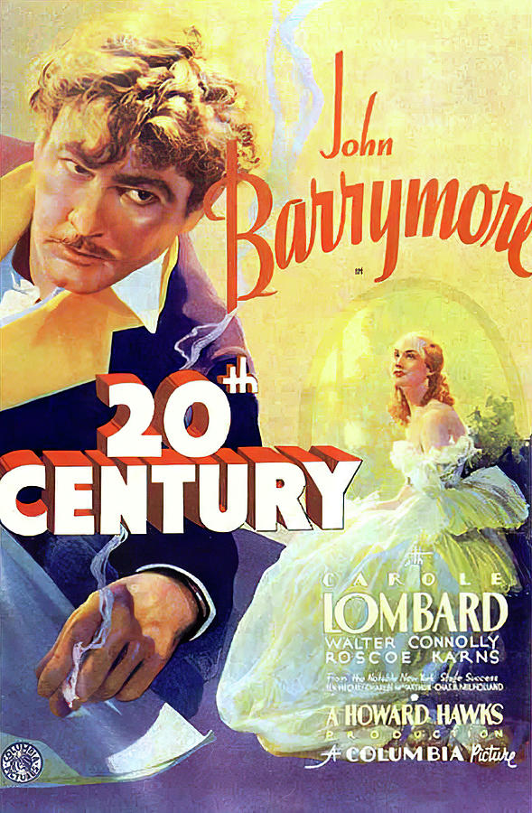 Movie Poster For twentieth Century, With John Barrymore, 1934 Mixed Media