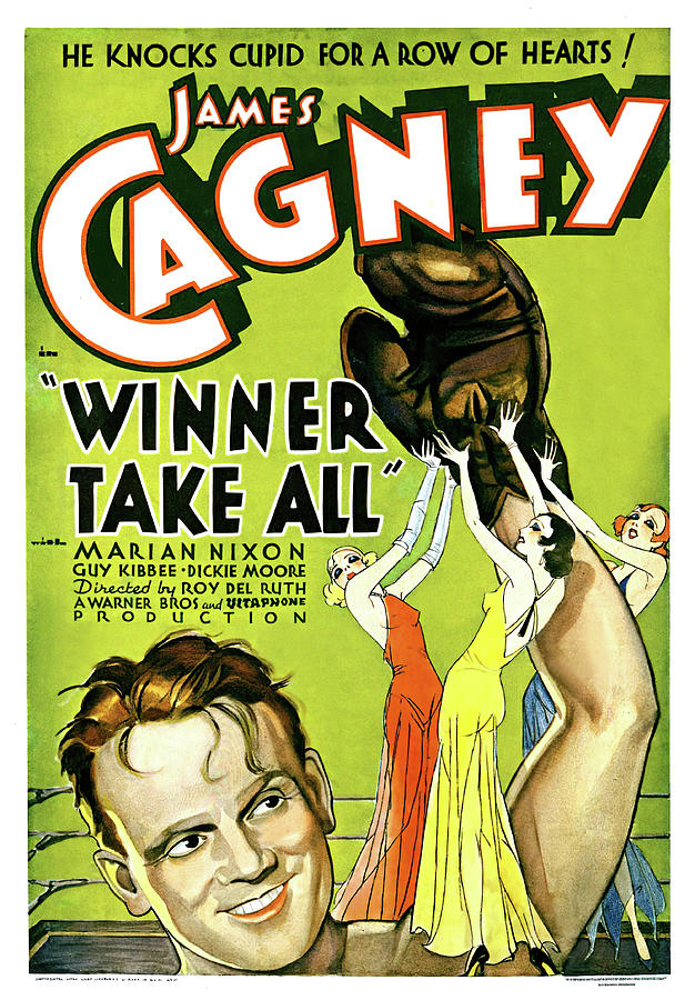 Movie Poster For Winner Take All, With James Cagney, 1932 Mixed Media