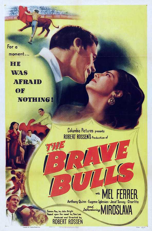 Movie Poster the Brave Bulls, With Mel Ferrer, 1951 Mixed Media
