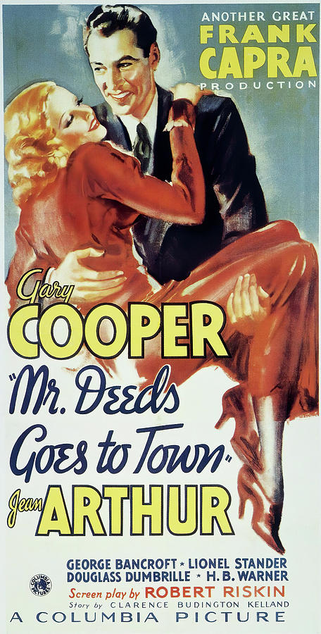 mr Deeds Goes To Town, With Jean Arthur And Gary Cooper, 1936 Mixed Media