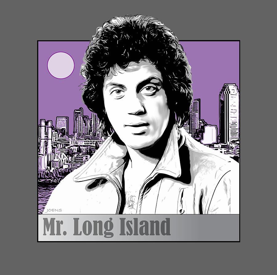 Billy Joel Digital Art - Mr. Long Island by Greg Joens