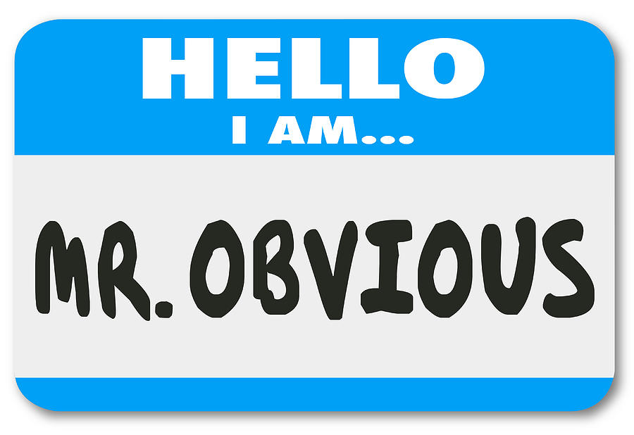 Mr Obvious Hello Name Tag Sticker Illustration Photograph by iQoncept