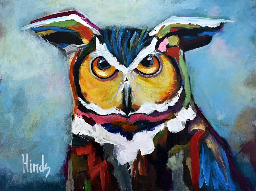 Mr Owl Painting