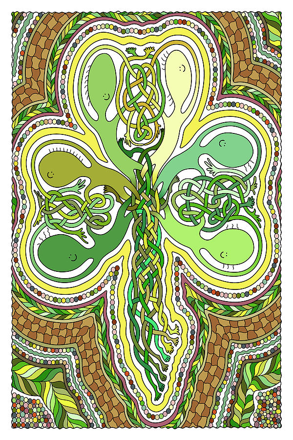 Celtic Knot Digital Art - Mr Squiggly Celtic Knot by Becky Titus