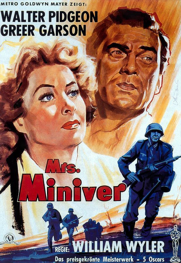 mrs. Miniver, 1942 - B Mixed Media