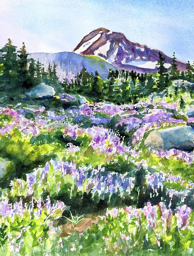 Mt. Hood Timberline Trail Oregon by Carlin Blahnik CarlinArtWatercolor