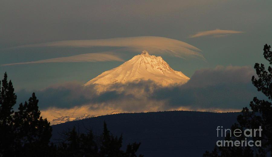 Mt Jefferson Photograph - Mt Jefferson by Gary Wing