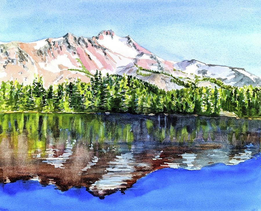 Mt. Jefferson Scout Lake Oregon by Carlin Blahnik CarlinArtWatercolor