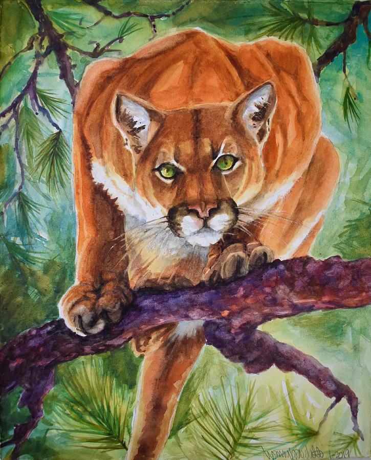 Mountain Lion Painting - Mt. Lion by Lisa Baechtle