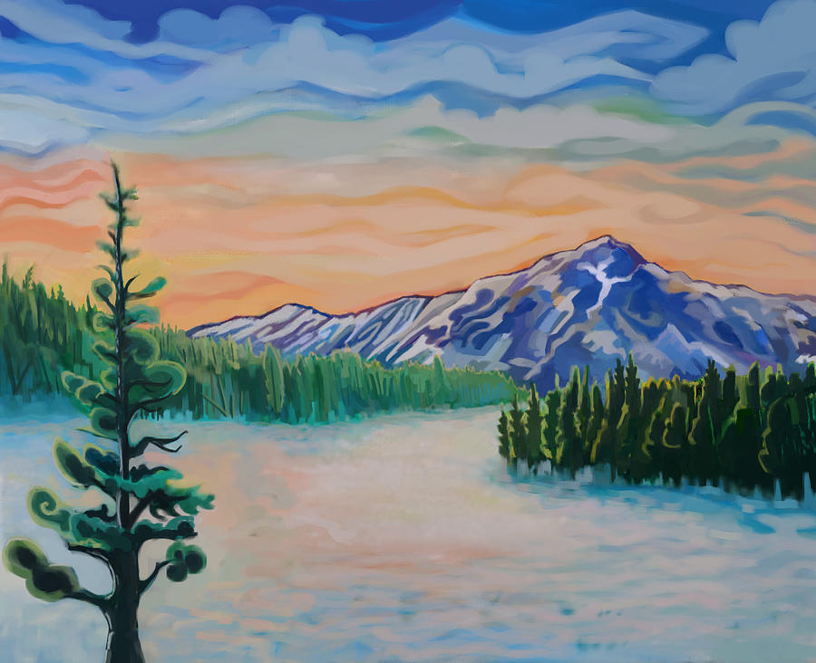 Lake Tahoe Painting - Mt. Tallac Winter Meadow by Craig Newman
