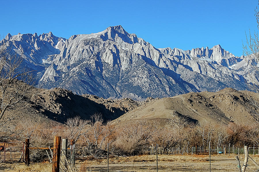 Mt Whitney From Highway 395 Photograph