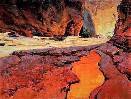 Mud Creek Canyon Painting by Joseph Barani