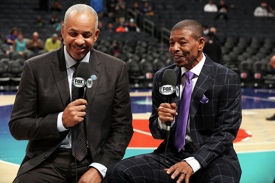 Muggsy Bogues and Dell Curry Photograph by Kent Smith