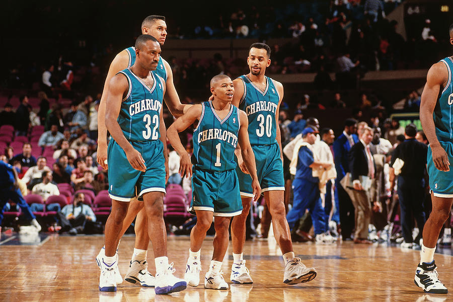 Muggsy Bogues and Dell Curry Photograph by Nathaniel S. Butler