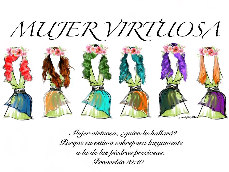 Mujer Virtuosa Digital Art by Pooky Inspiration