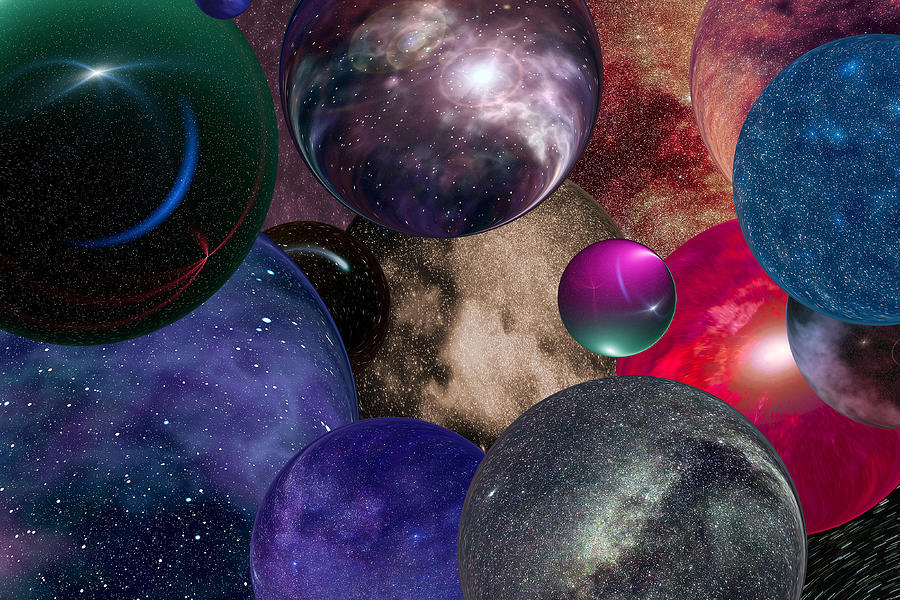 Multiple universes in the infinite  space Photograph by Igor Sokalski