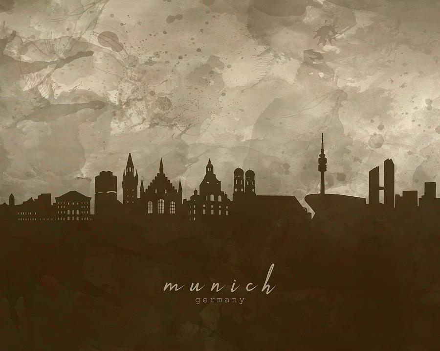 Munich Skyline Panorama 4 Digital Art