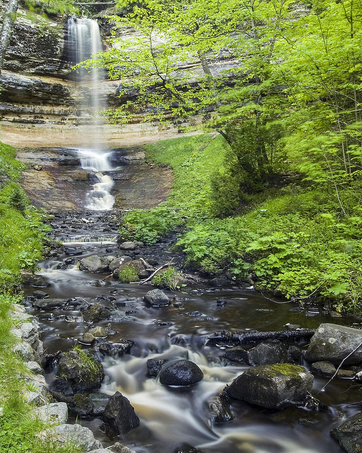 3scape Photograph - Munising Falls by Adam Romanowicz