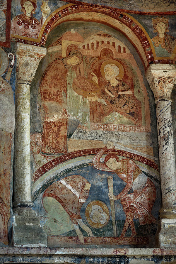 Mural Paintings in the Cluniac Chapel of Berze-la-Ville #3 by RicardMN Photography