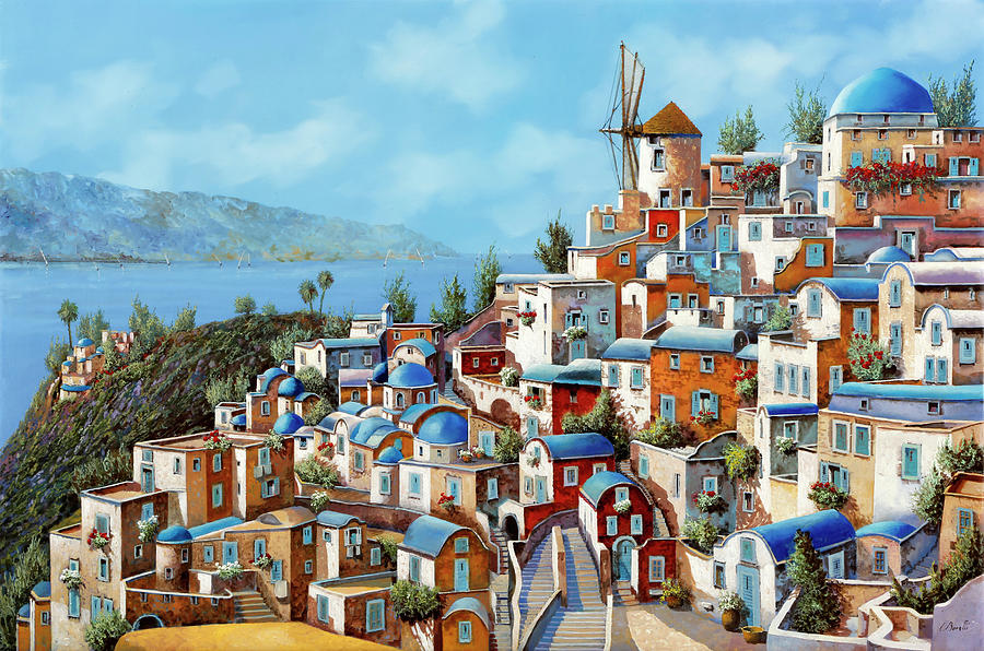 Muri Rossi In Grecia Painting