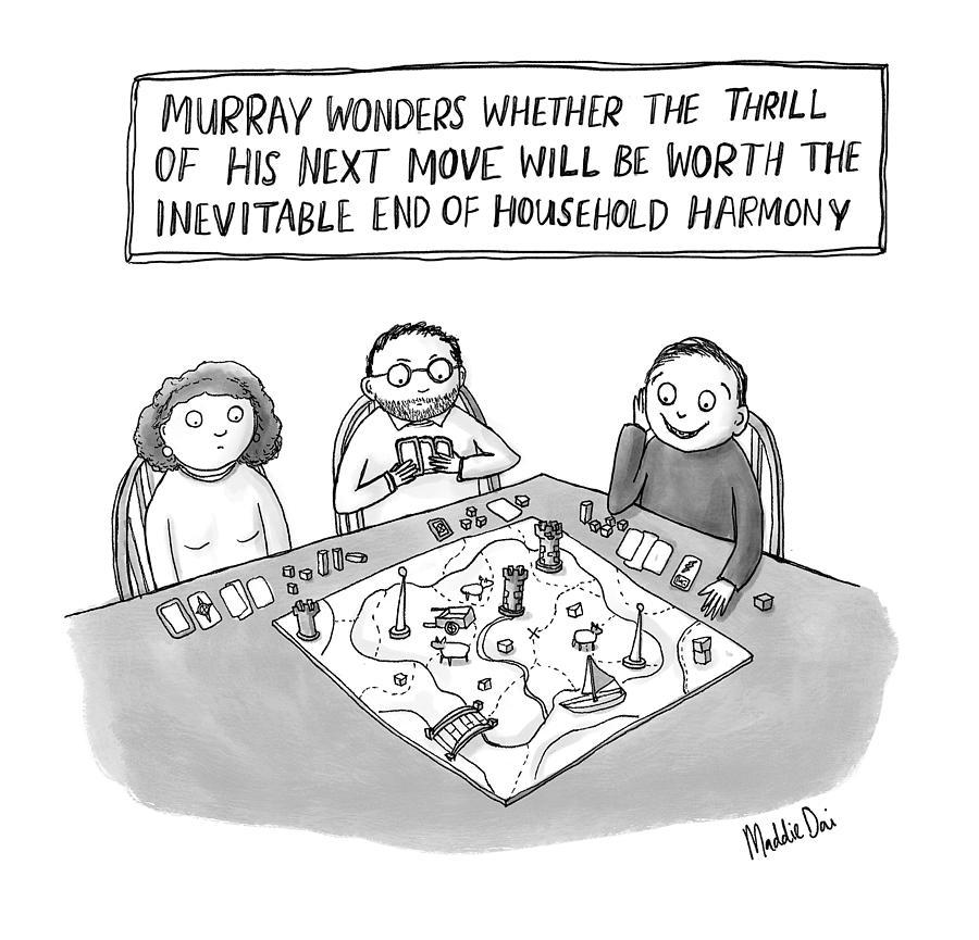 Murray Wonders Drawing by Maddie Dai