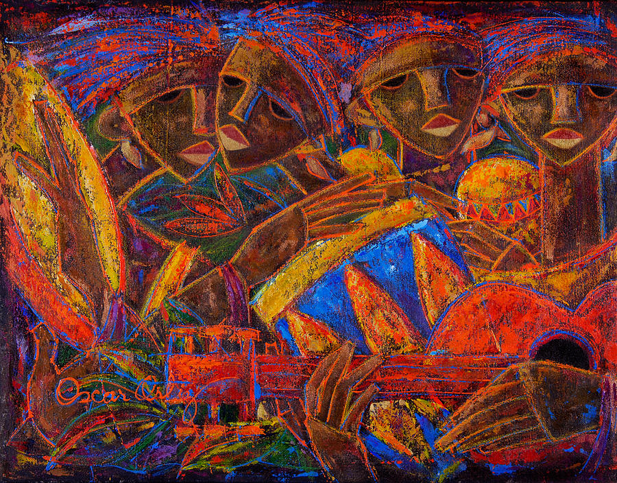 Puerto Rico Painting - Musas Del Caribe by Oscar Ortiz