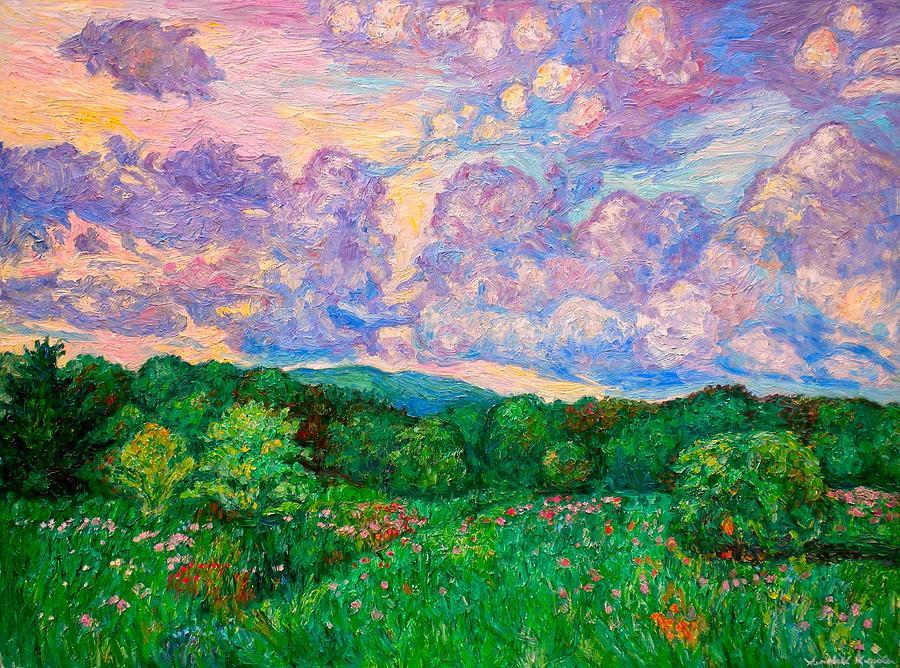 Landscape Painting - Mushroom Clouds by Kendall Kessler