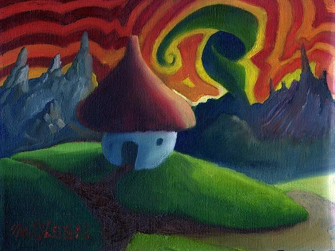 Mushroom house landscape - 2007 by Thomas Olsen