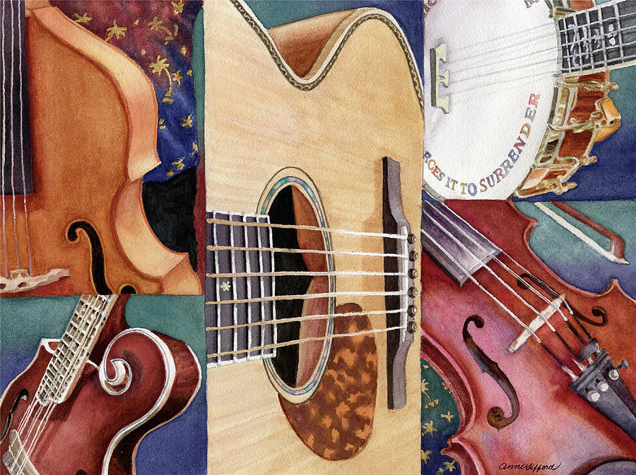 Music Mosaic Painting by Anne Gifford