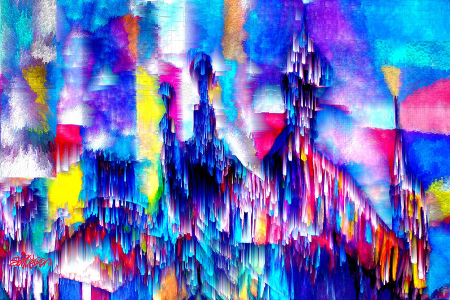 City Lights Mixed Media - Music of the City by Seth Weaver