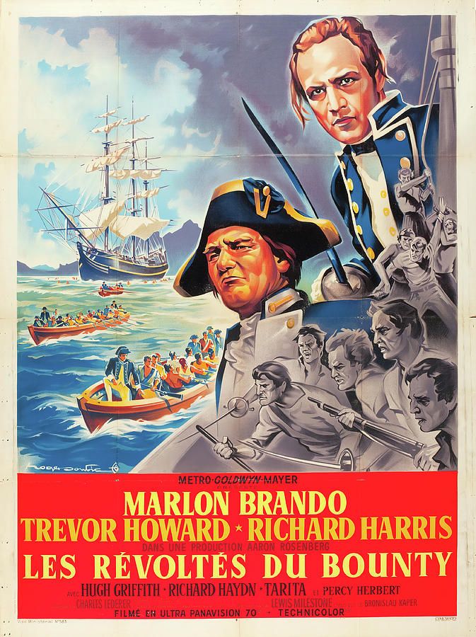mutiny On The Bounty, With Marlon Brando, 1962 Mixed Media