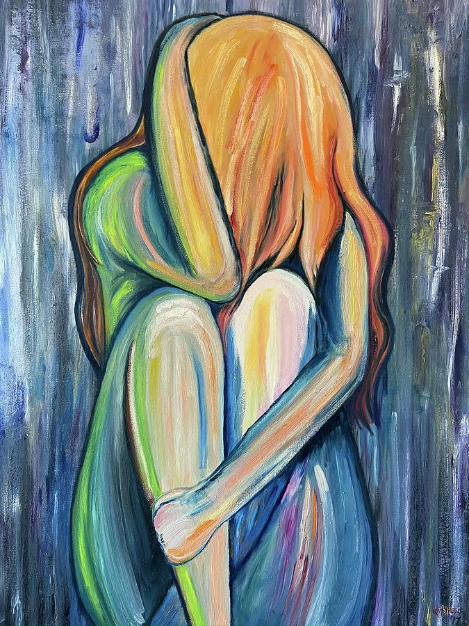 My Colorful Depression Painting by Kathleen DiBerardino