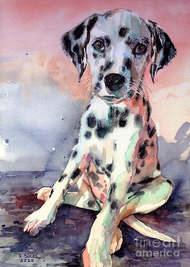 Dalmatian Painting - My Faithful Dalmatian by Suzann Sines