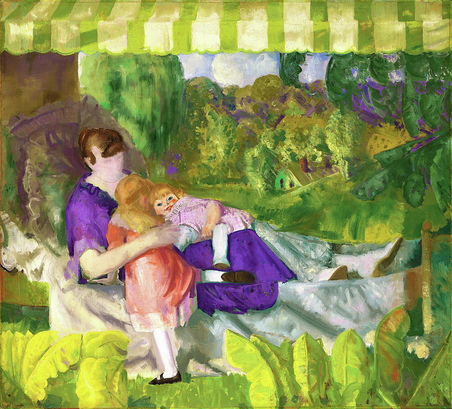 My Family Painting - My Family - Digital Remastered Edition by George Wesley Bellows