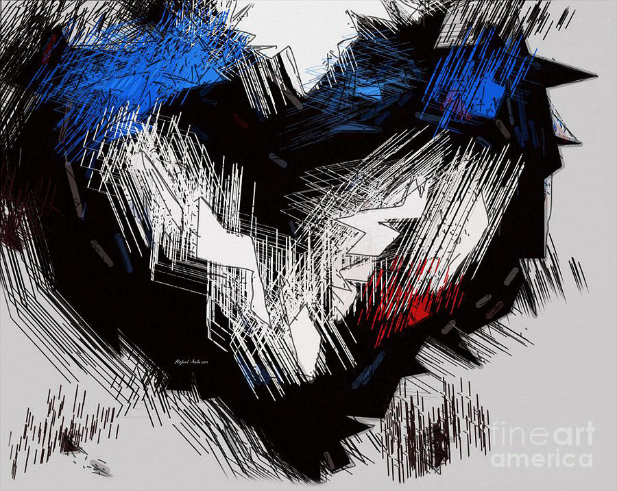 My Heart Went Blue Painting