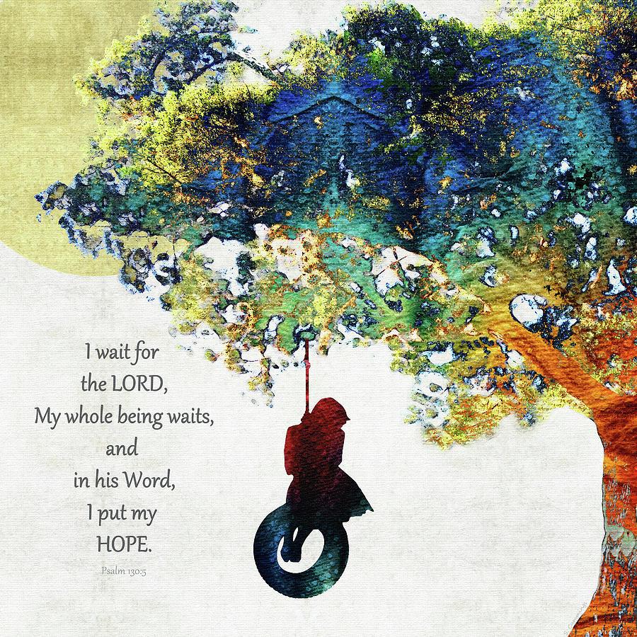 130 Painting - My Hope - Inspirational Christian Art - Sharon Cummings by Sharon Cummings