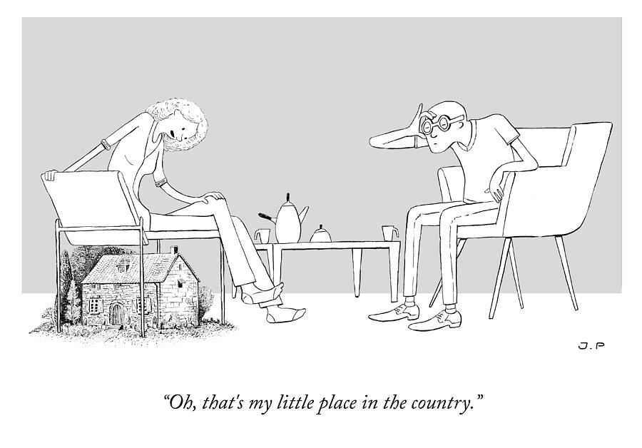 My Little Place In The Country Drawing by Julia Leigh and Phillip Day