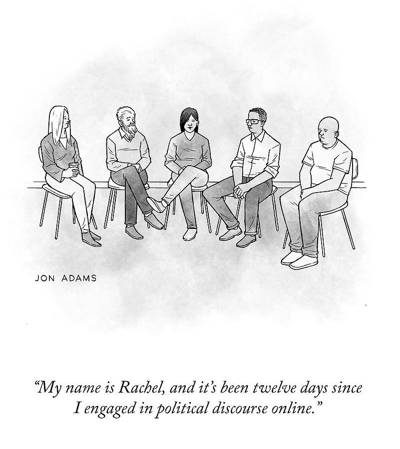 My Name Is Rachel Drawing by Jon Adams