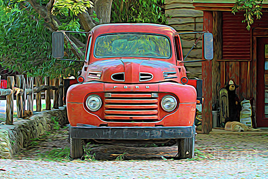 Well Digital Art - My Old Ford Truck by Chris Mautz
