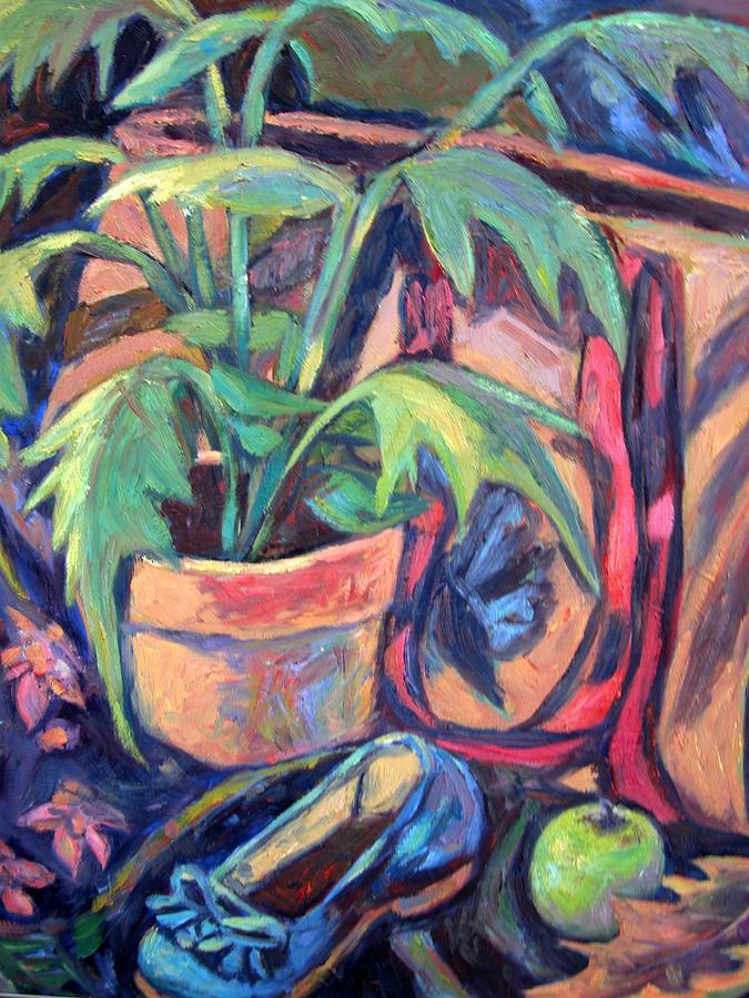 Plant Painting - My Old Shoe by Kendall Kessler